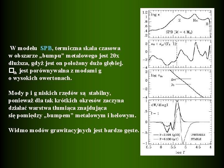 """W modelu SPB, termiczna skala czasowa w obszarze """"bumpu"""" metalowego jest 20 x dłuższa,"""