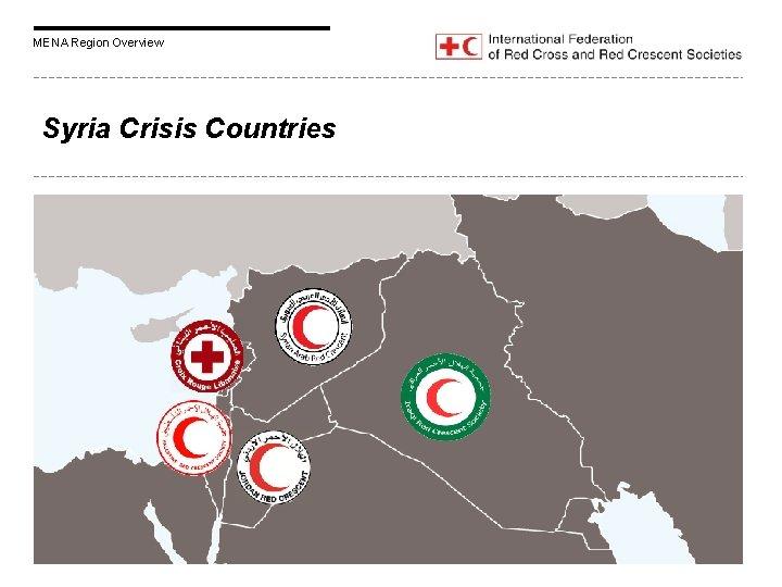 MENA Region Overview Syria Crisis Countries