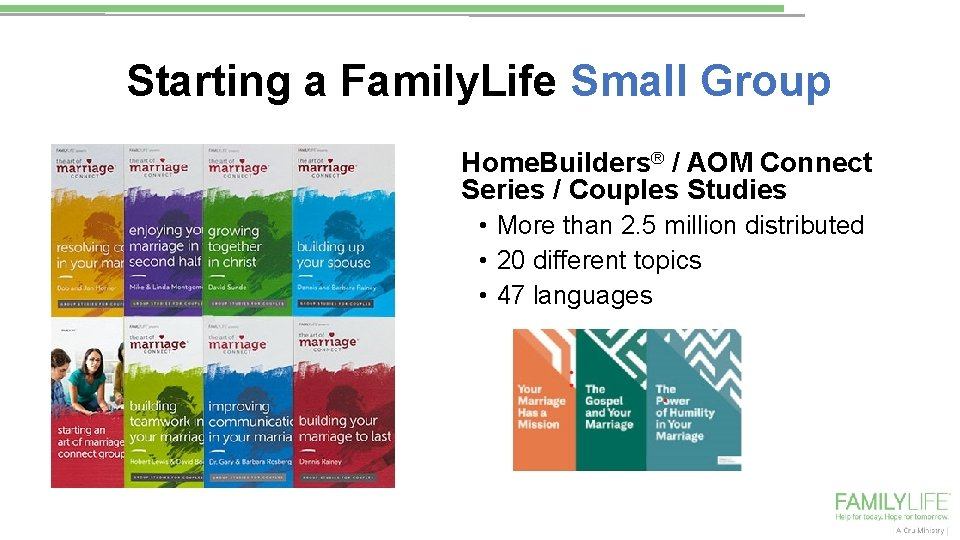 Starting a Family. Life Small Group Home. Builders® / AOM Connect Series / Couples