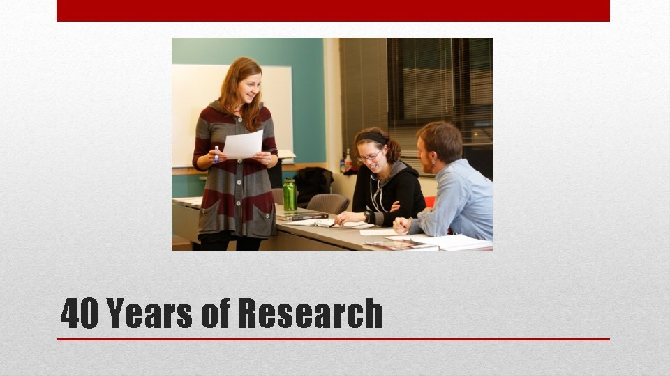 40 Years of Research
