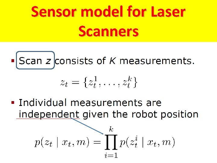 Sensor model for Laser Scanners