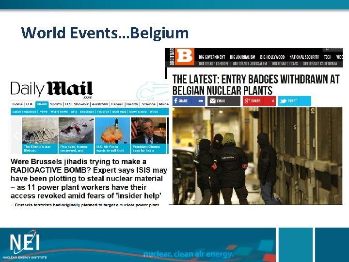 World Events…Belgium