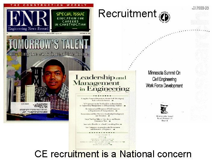 Recruitment CE recruitment is a National concern