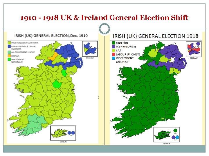 1910 - 1918 UK & Ireland General Election Shift