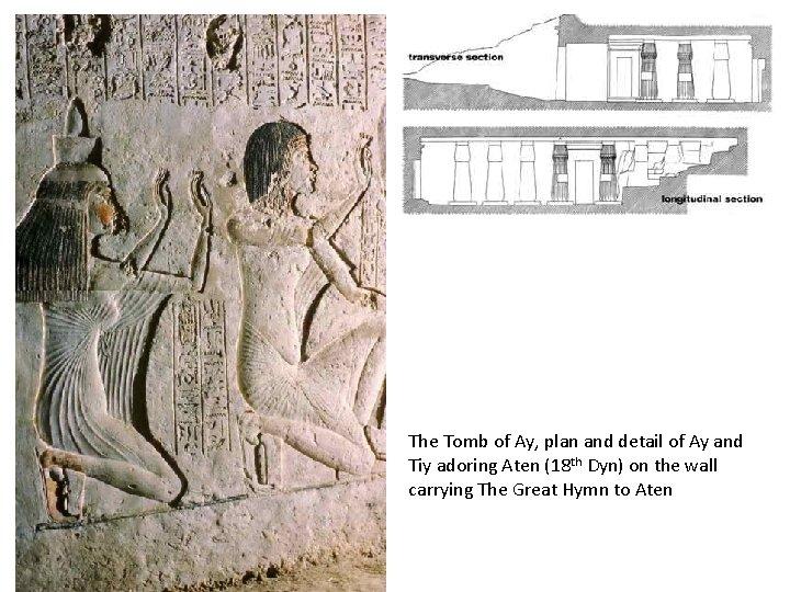 The Tomb of Ay, plan and detail of Ay and Tiy adoring Aten (18