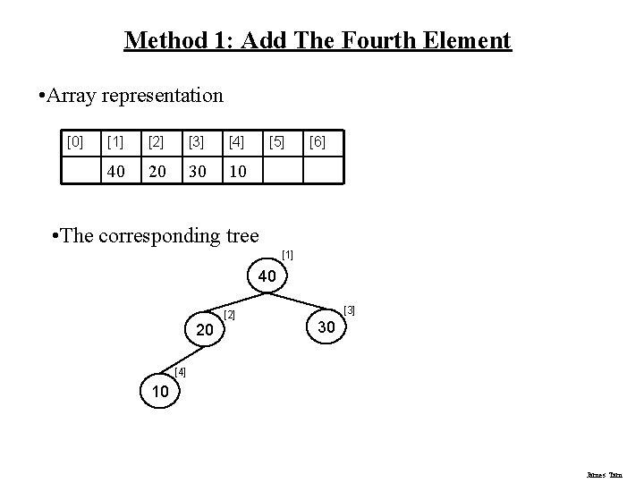 Method 1: Add The Fourth Element • Array representation [0] [1] [2] [3] [4]