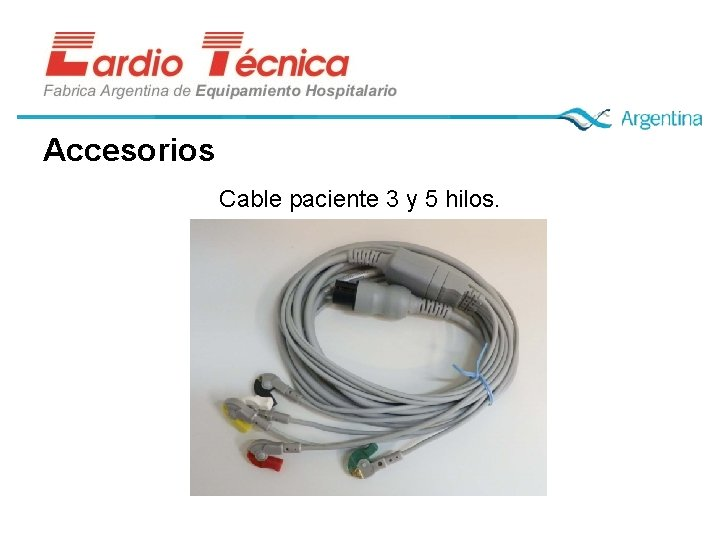 Accesorios Cable paciente 3 y 5 hilos.