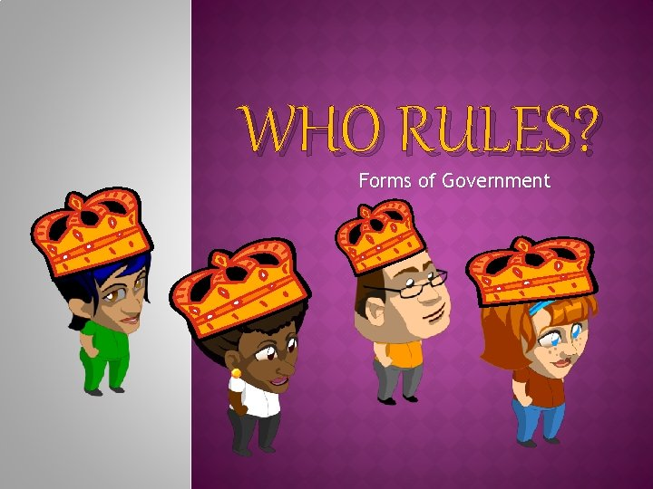 WHO RULES? Forms of Government