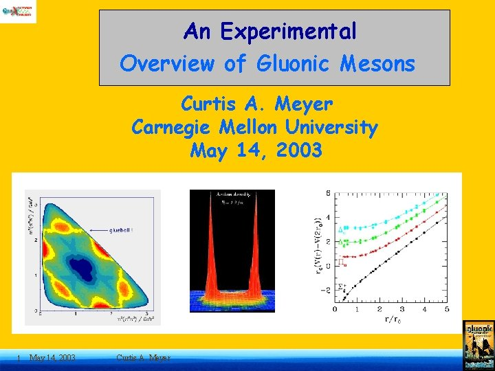 An Experimental Overview of Gluonic Mesons Curtis A. Meyer Carnegie Mellon University May 14,