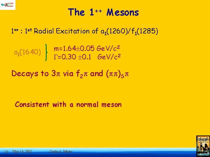 The 1++ Mesons 1++ : 1 st Radial Excitation of a 1(1260)/f 1(1285) a