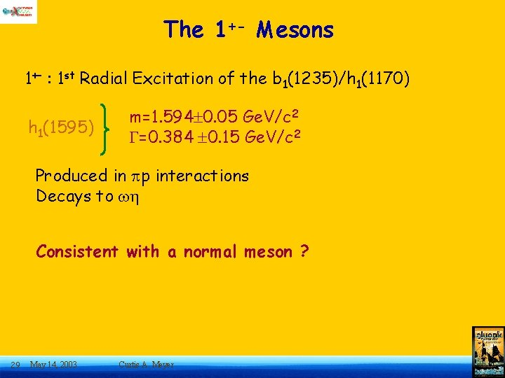 The 1+- Mesons 1+- : 1 st Radial Excitation of the b 1(1235)/h 1(1170)