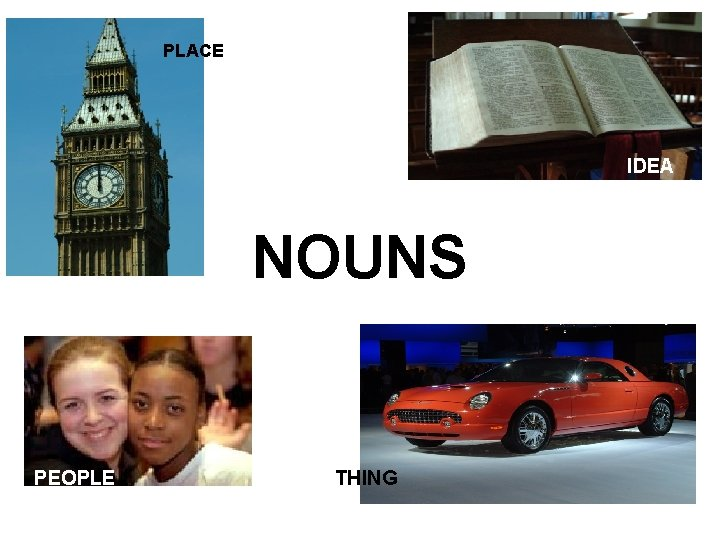 PLACE IDEA NOUNS PEOPLE THING