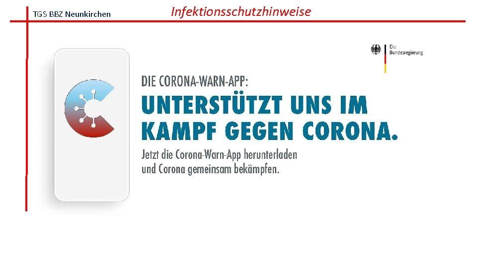 TGS BBZ Neunkirchen Infektionsschutzhinweise