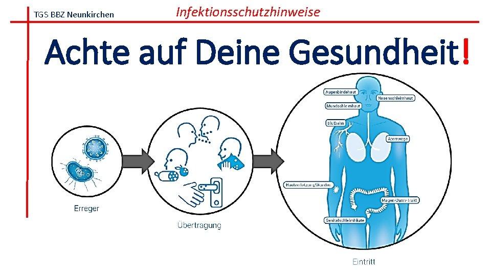 TGS BBZ Neunkirchen Infektionsschutzhinweise Achte auf Deine Gesundheit!