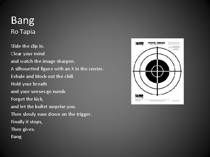 Bang Ro Tapia Slide the clip in. Clear your mind and watch the image