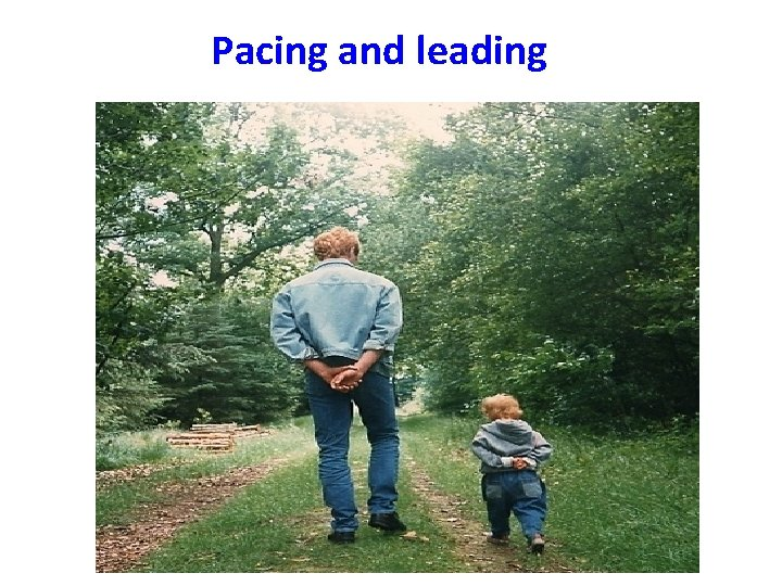 Pacing and leading