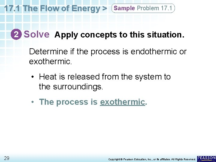 17. 1 The Flow of Energy > Sample Problem 17. 1 2 Solve Apply