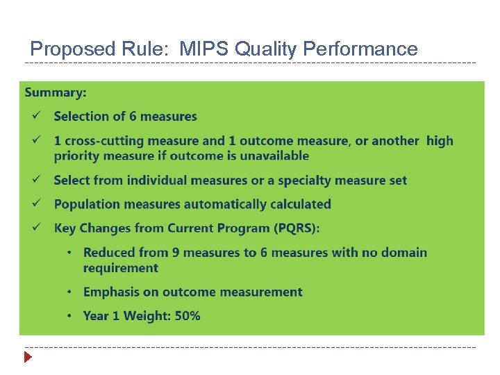 Proposed Rule: MIPS Quality Performance