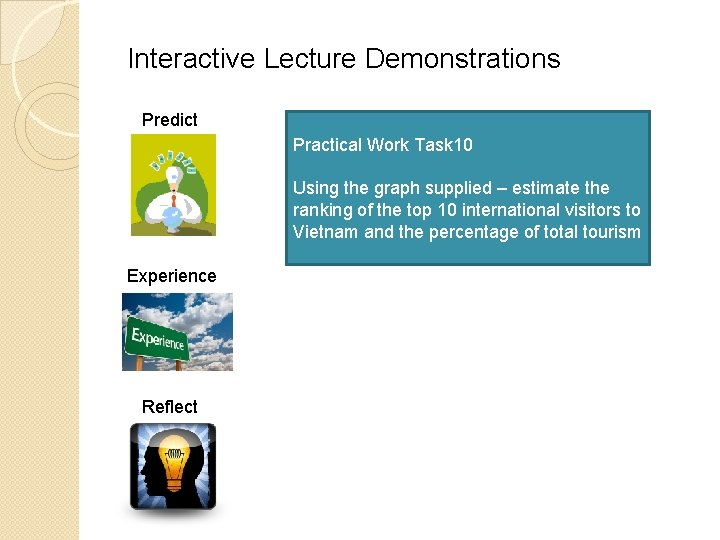 Interactive Lecture Demonstrations Predict Practical Work Task 10 Using the graph supplied – estimate