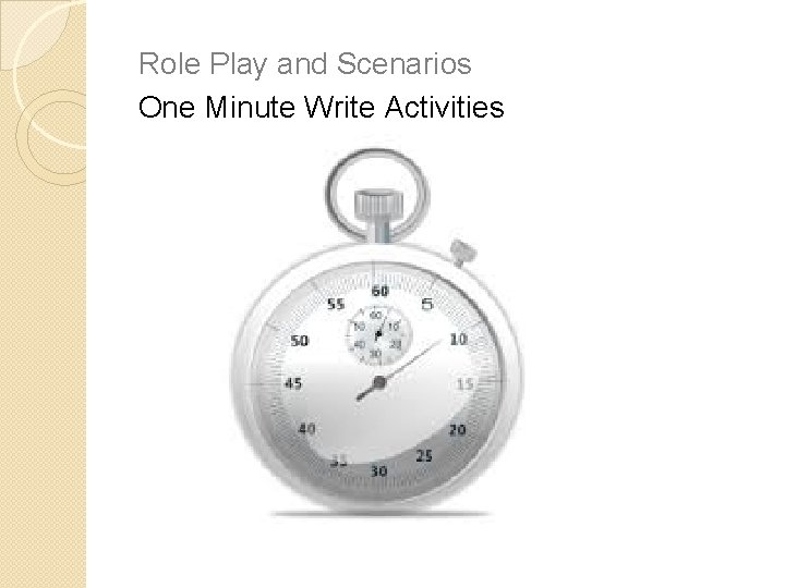 Role Play and Scenarios One Minute Write Activities Skeleton Notes Graphic Organisers