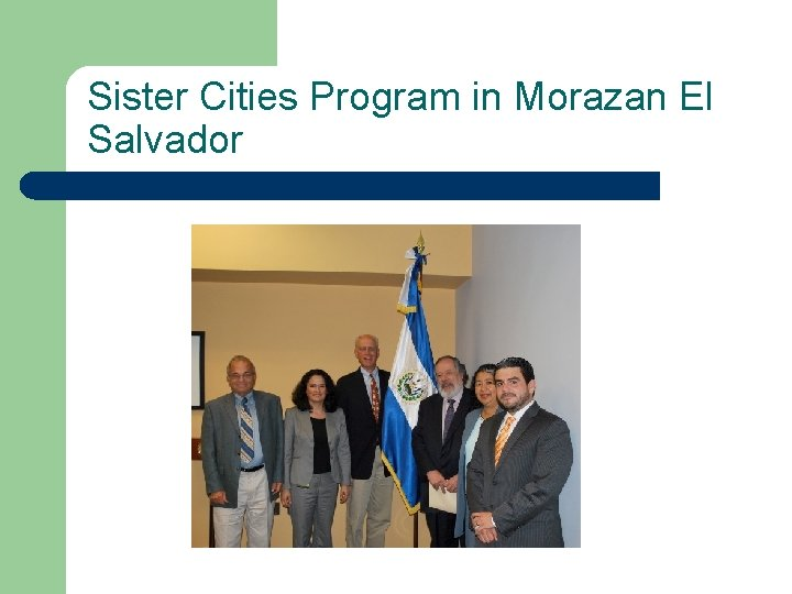Sister Cities Program in Morazan El Salvador