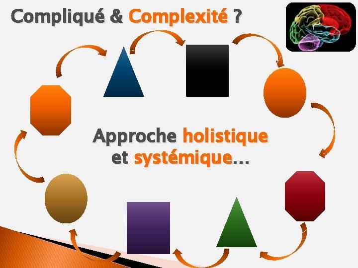 Compliqué & Complexité ? Approche holistique et systémique…