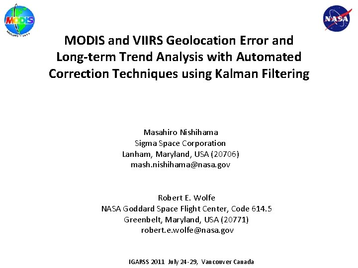 MODIS and VIIRS Geolocation Error and Long-term Trend Analysis with Automated Correction Techniques using