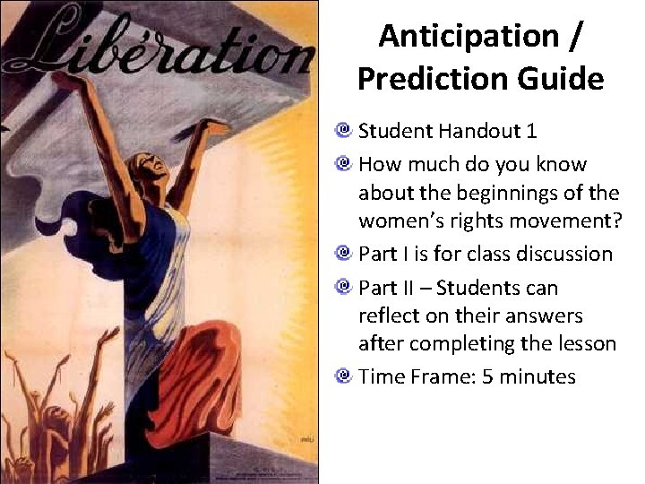 Anticipation / Prediction Guide Student Handout 1 How much do you know about the