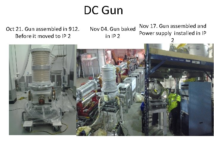 DC Gun Oct 21. Gun assembled in 912. Before it moved to IP 2