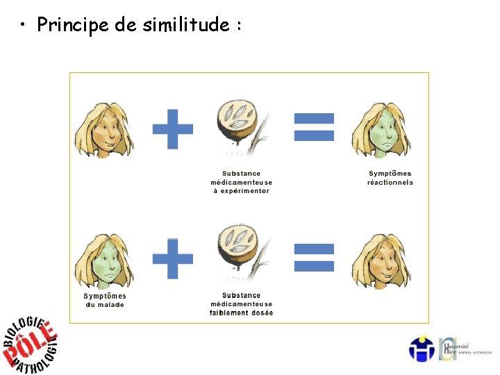 • Principe de similitude :