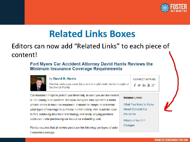 """Related Links Boxes Editors can now add """"Related Links"""" to each piece of content!"""