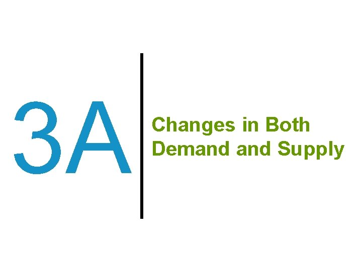 3 A Changes in Both Demand Supply