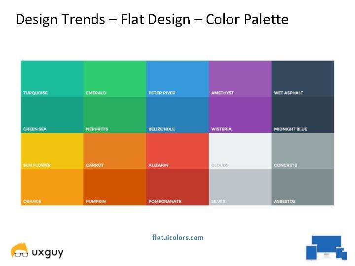 Design Trends – Flat Design – Color Palette flatuicolors. com
