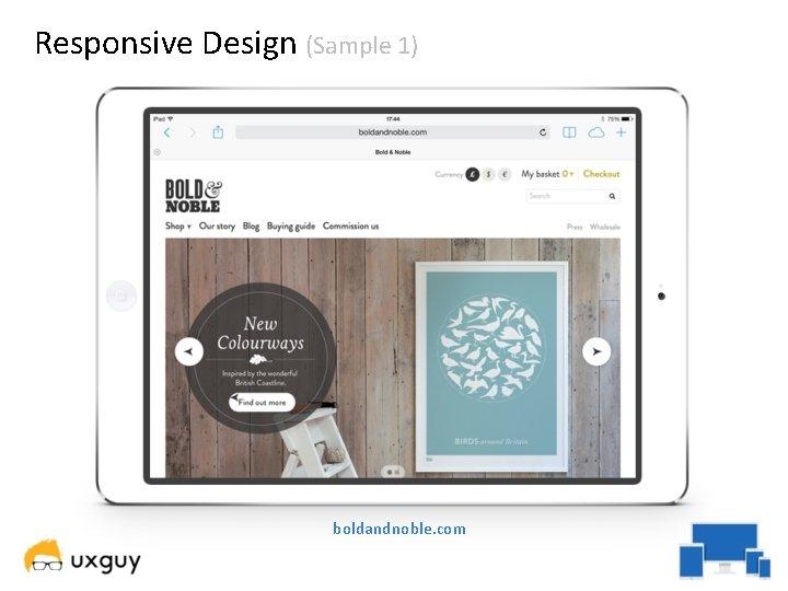 Responsive Design (Sample 1) boldandnoble. com