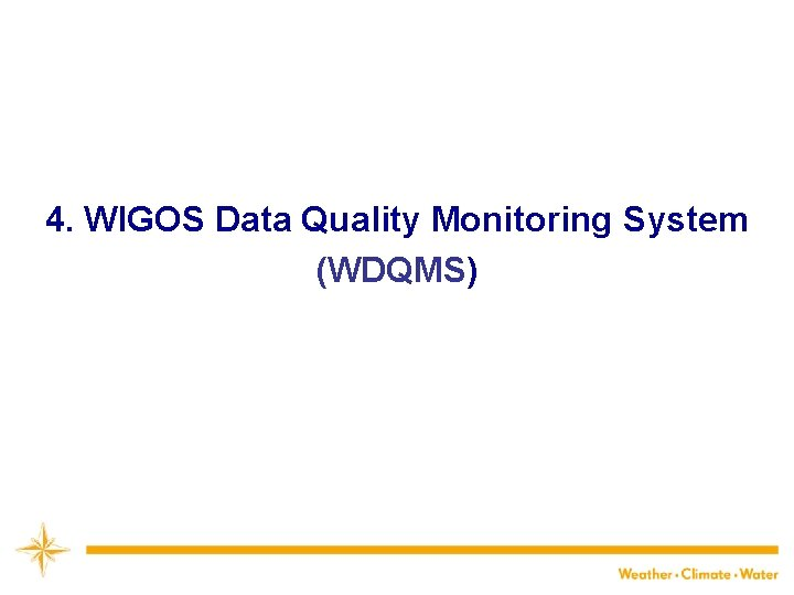 4. WIGOS Data Quality Monitoring System (WDQMS) 20