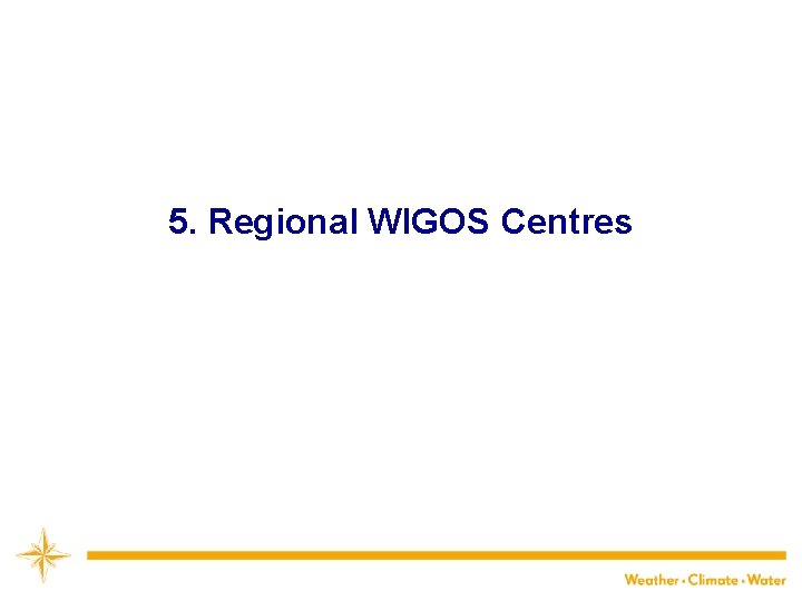 5. Regional WIGOS Centres 21