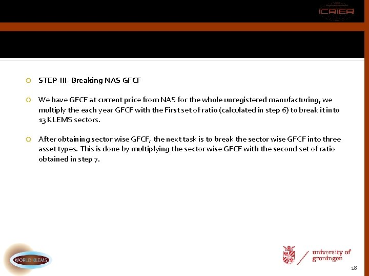 STEP-III- Breaking NAS GFCF We have GFCF at current price from NAS for