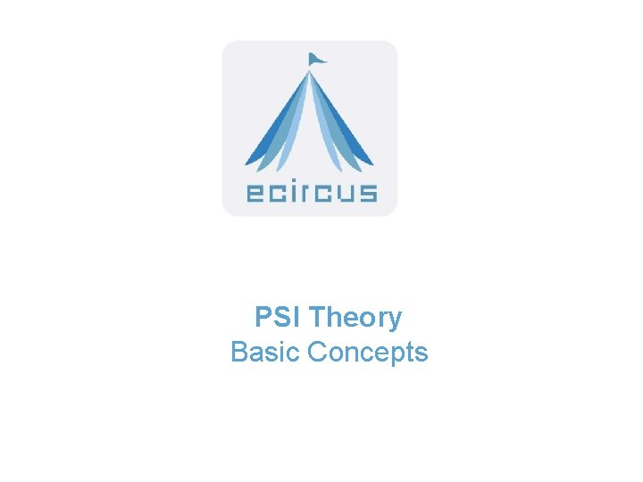 PSI Theory Basic Concepts