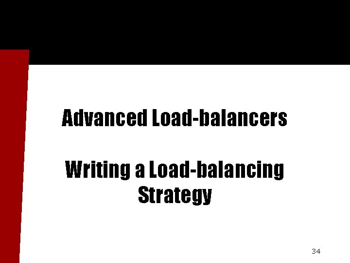 Advanced Load-balancers Writing a Load-balancing Strategy 34
