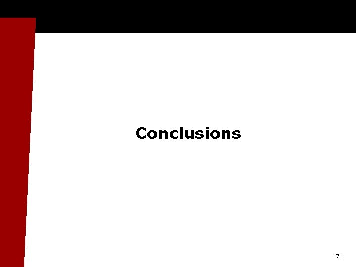 Conclusions 71