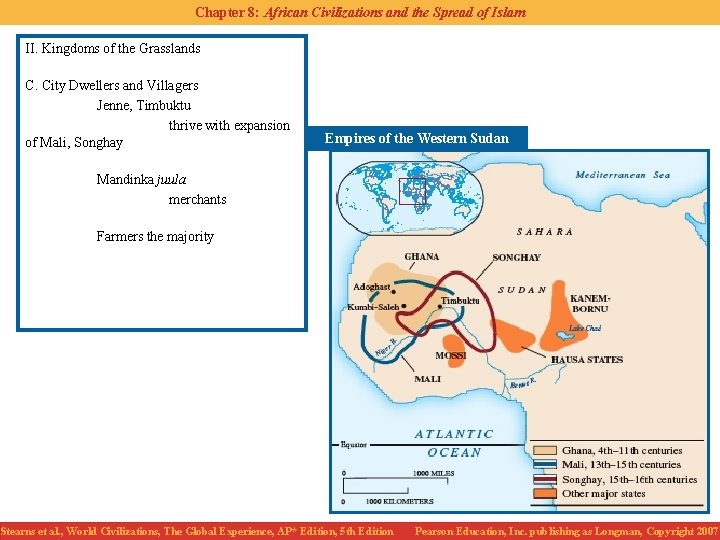 Chapter 8: African Civilizations and the Spread of Islam II. Kingdoms of the Grasslands
