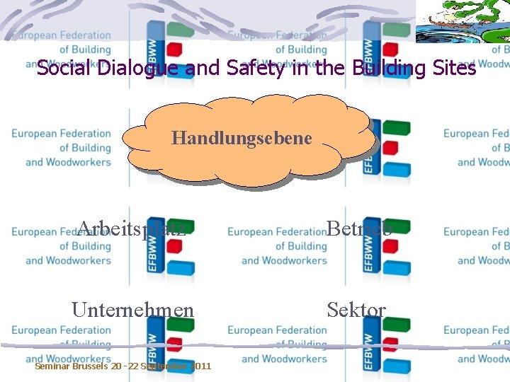 Social Dialogue and Safety in the Building Sites Handlungsebene Arbeitsplatz Betrieb Unternehmen Sektor Seminar