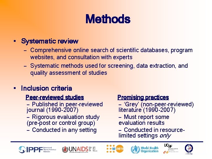 Methods § Systematic review — Comprehensive online search of scientific databases, program websites, and