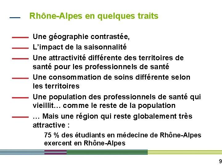 Rhône-Alpes en quelques traits Une géographie contrastée, L'impact de la saisonnalité Une attractivité différente