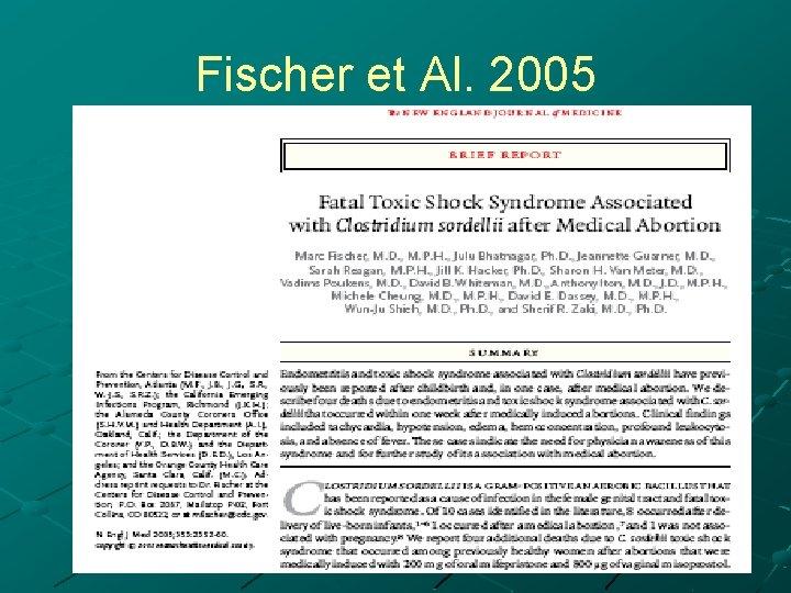 Fischer et Al. 2005