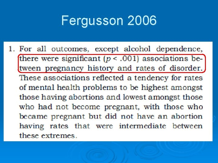 Fergusson 2006