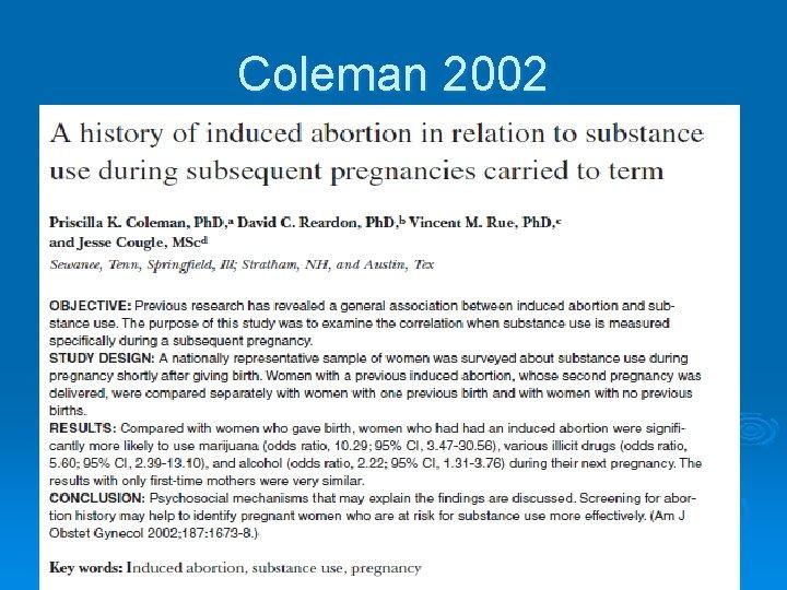 Coleman 2002