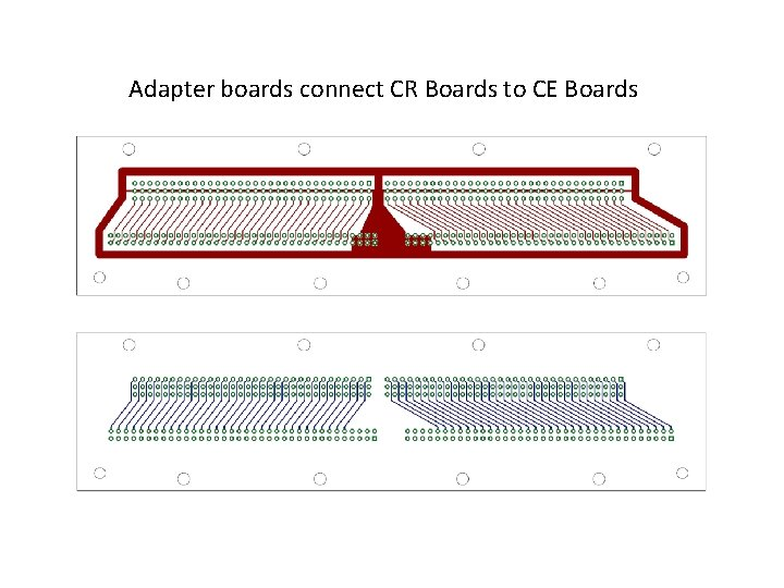 Adapter boards connect CR Boards to CE Boards