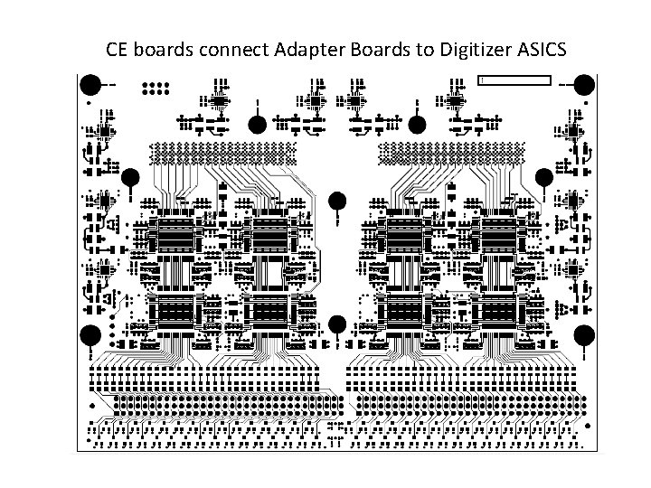 CE boards connect Adapter Boards to Digitizer ASICS
