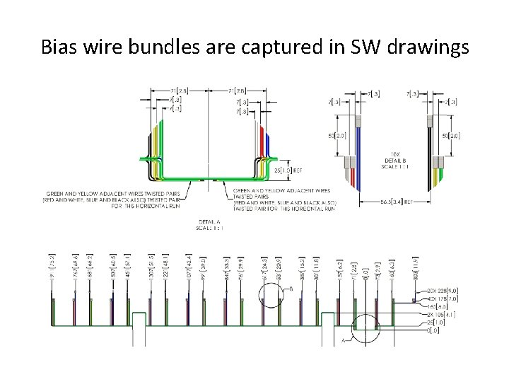 Bias wire bundles are captured in SW drawings
